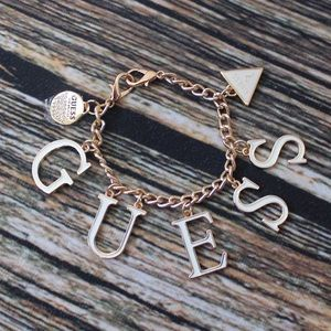 New Guess Gold Charm Bracelet